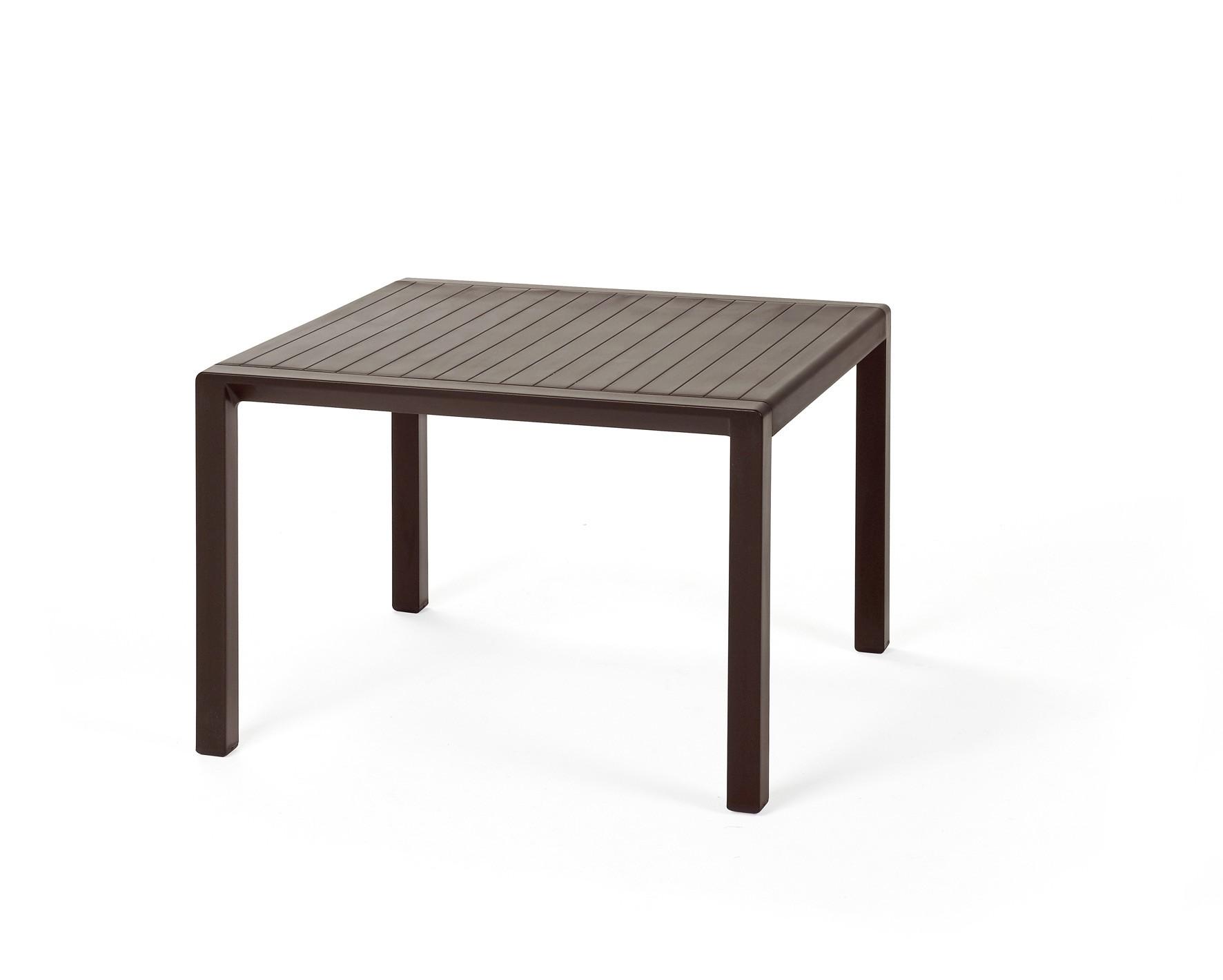 Gartentisch beistelltisch aria kunststoff kaffee 60x60cm for Beistelltisch kunststoff