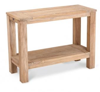 Gartentisch Beistelltisch Sideboard Moretti Best 100x42 Teak greywash Bild 1