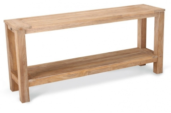 Gartentisch Beistelltisch Sideboard Moretti Best 170x42 Teak grey-wash Bild 1