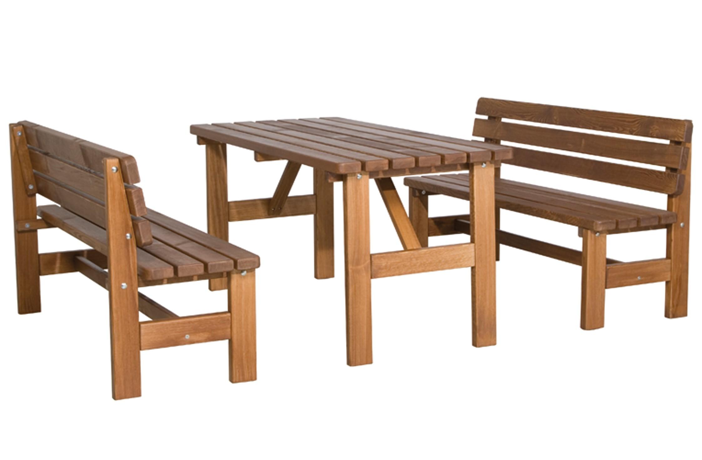 Gartentisch / Biertisch Tessin 150x72cm Massivholz braun Bild 2