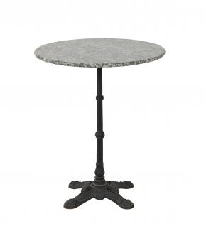 Gartentisch / Bistrotisch Nizza Granit Ø 60cm schwarz Bild 1