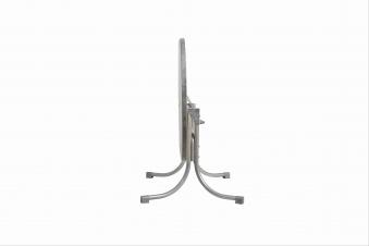 Gartentisch Boulevard oval 146x94cm klappbar Stahl/Topalit platin/grau Bild 3
