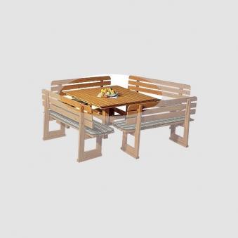 Gartentisch Bregenz Fichtenholz imprägniert 130x130cm Bild 1