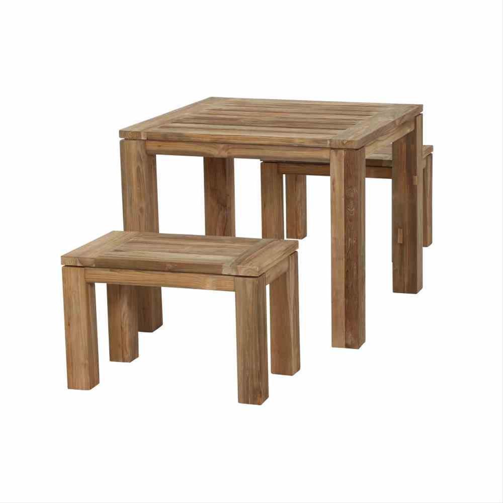 Gartentisch / Esstisch Siena Garden Rondo Teak natur 90x90cm Bild 5