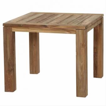 Gartentisch / Esstisch Siena Garden Rondo Teak natur 90x90cm Bild 1