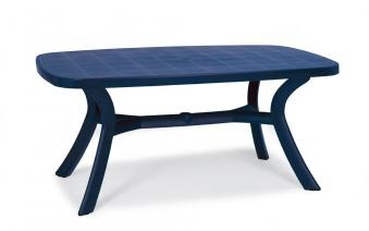 Gartentisch Kansas Best oval Kunststoff blau 192x105cm Bild 1