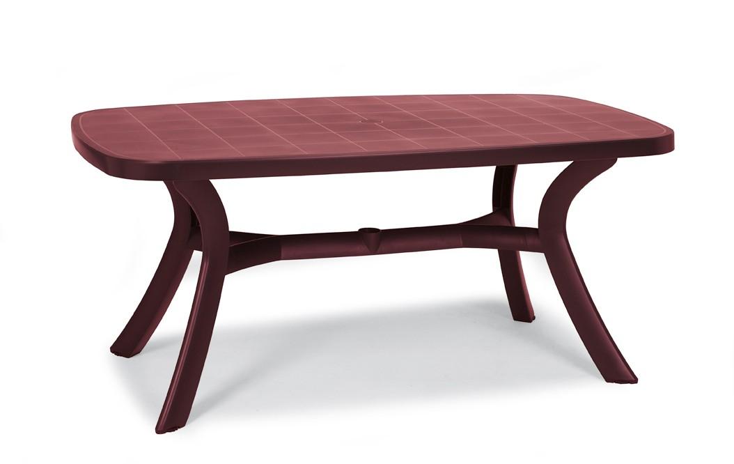 Gartentisch Kansas Best oval Kunststoff bordeaux 192x105cm Bild 1