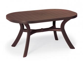 Gartentisch Kansas Best oval Kunststoff braun 145x95cm Bild 1