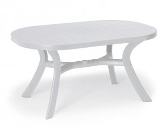 Gartentisch Kansas Best oval Kunststoff weiß 145x95cm Bild 1