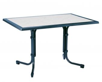 Gartentisch / Klapptisch Boulevard Best 120x80cm Stahl blau marmoriert Bild 1