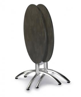 Gartentisch / Klapptisch Firenze Best Ø70cm Alu / HPL Marmor Bild 2