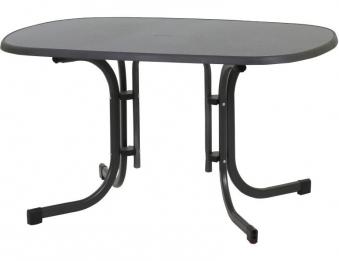 Gartentisch / Klapptisch MFG oval 132x90cm anthrazit / Schiefer Bild 1