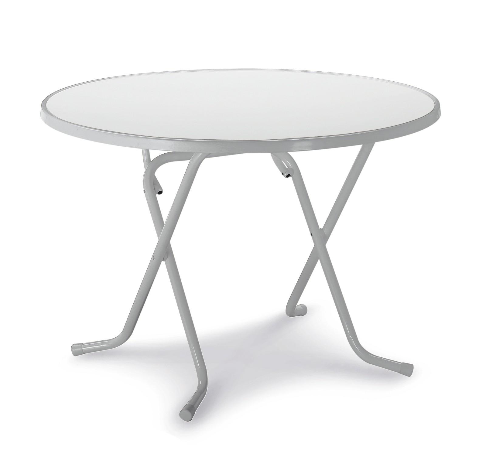 Gartentisch / Klapptisch Primo Best Ø100cm Stahl silber Bild 1