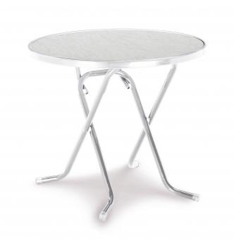 Gartentisch / Klapptisch Primo Best Ø80cm Stahl silber Bild 1