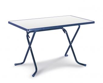 Gartentisch / Klapptisch Primo Best 110x70cm Stahl blau Bild 1