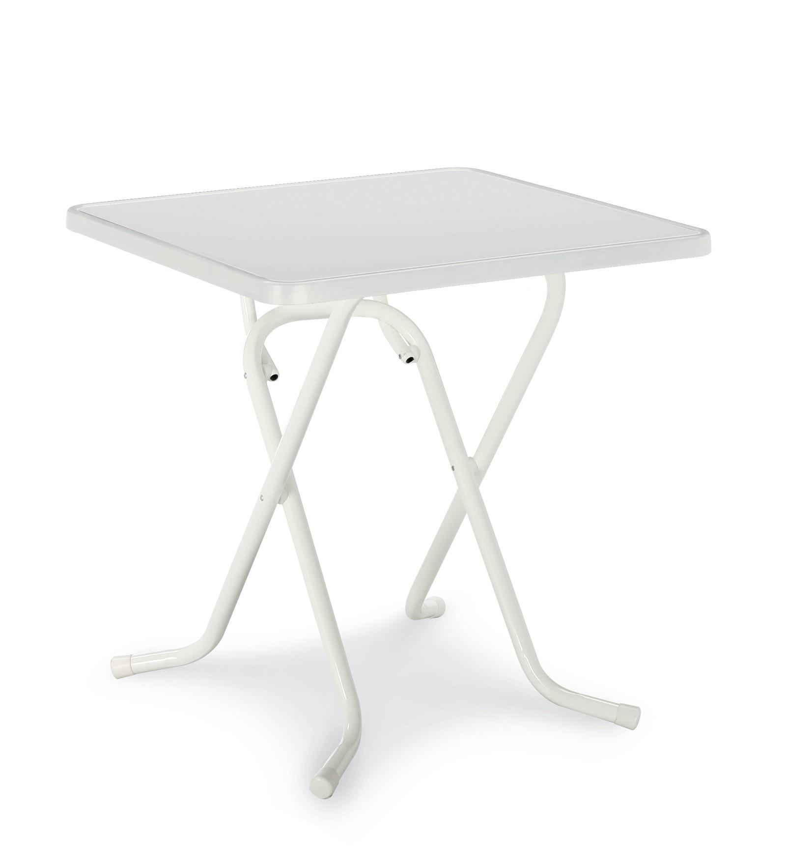 Gartentisch / Klapptisch Primo Best 67x67cm Stahl weiß Bild 1