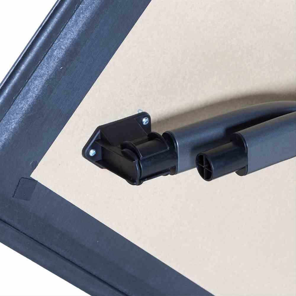 Gartentisch / Klapptisch Siena Garden Slim Stahl anthrazit 80x80cm Bild 4