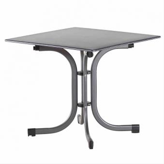 Gartentisch / Klapptisch Siena Garden Slim Stahl anthrazit 80x80cm Bild 1