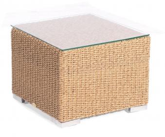 Gartentisch Korbmöbel wetterfest Residence 60x60cm Hyazithoptik Bild 1
