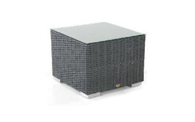Gartentisch Korbmöbel wetterfest Residence 60x60cm graphit-schwarz Bild 1