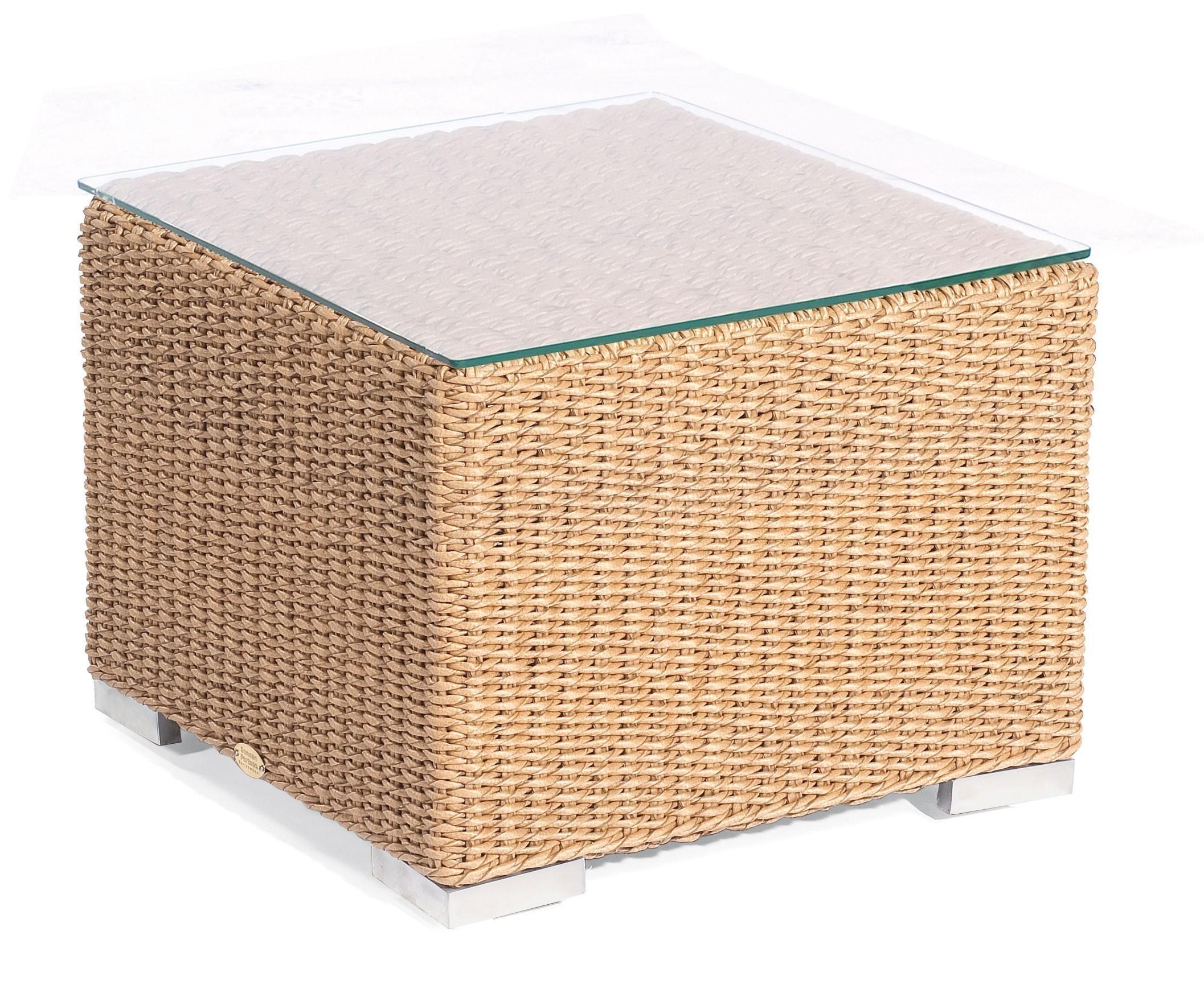 Gartenmobel Gebraucht Trier : Gartentisch Korbmöbel wetterfest Residence 60x60cm Hyazithoptik  bei
