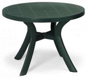 Gartentisch Kunststoff Kansas rund Ø 100cm grün Bild 1