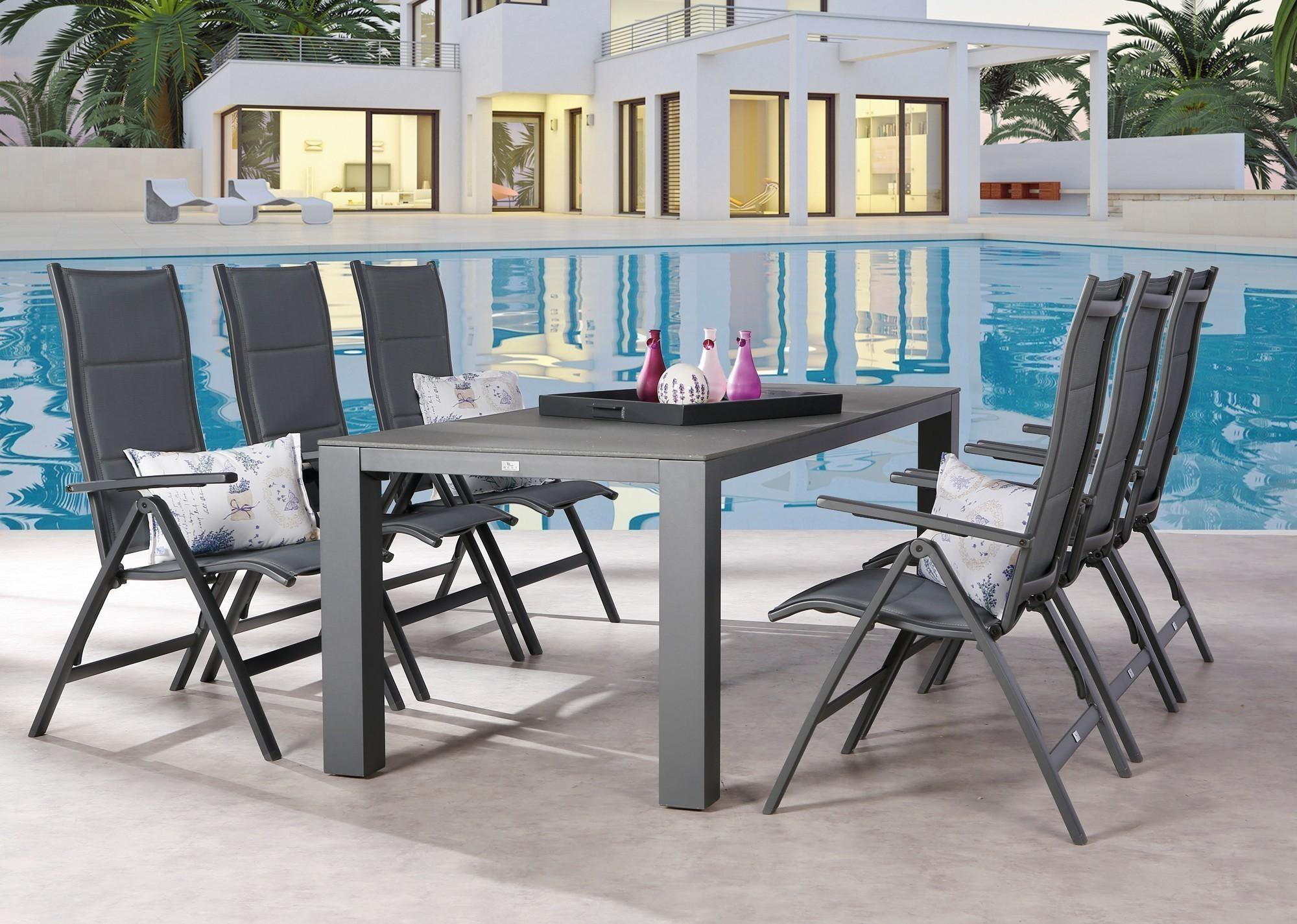 Gartentisch Livorno Best 230x90cm Alu Durable Top anthrazit Bild 3