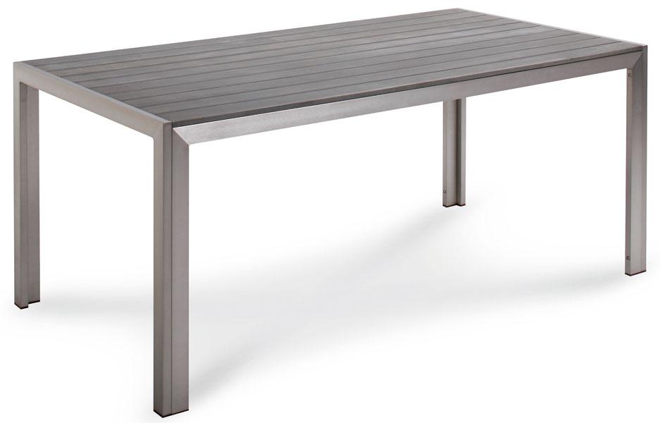gartentisch / lofttisch seattle 180x90cm alu / kunststoff silber, Gartenmöbel
