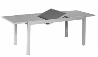 Gartentisch Merxx ausziehbar Glasplatte 140/200x90cm Alu silber/grau Bild 1