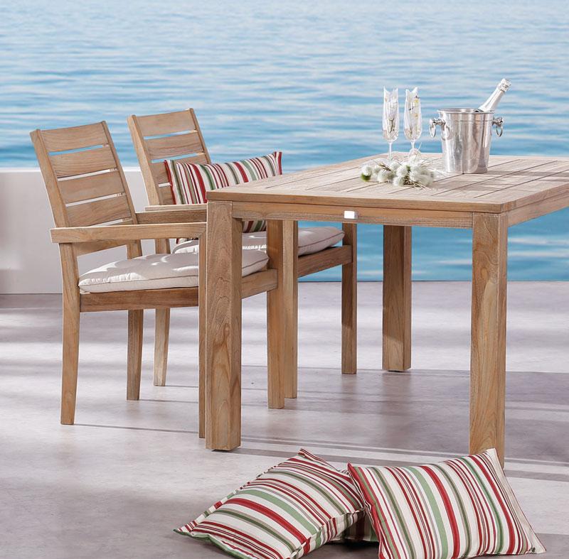 Gartentisch Moretti Best 160x160cm Teak grey wash Bild 4