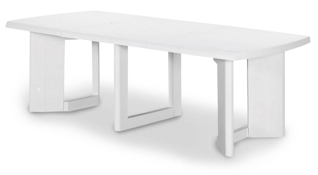 Extremely Gartentisch Orlando ausziehbar Kunststoff weiß 200/260x105cm - bei  OA14