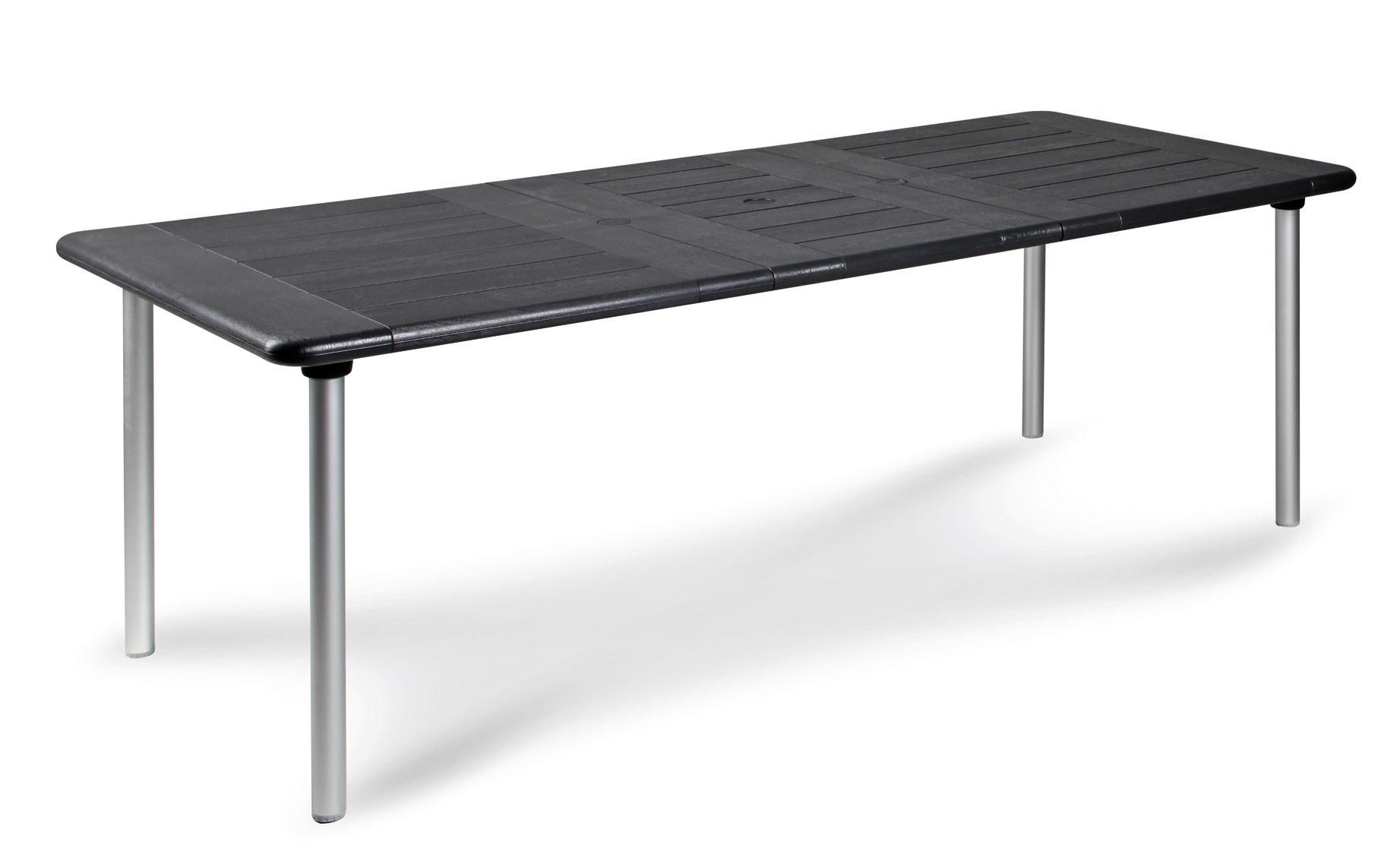 gartentisch tavolo ausziehbar 160 220x100 cm alu silber anthrazit bei. Black Bedroom Furniture Sets. Home Design Ideas