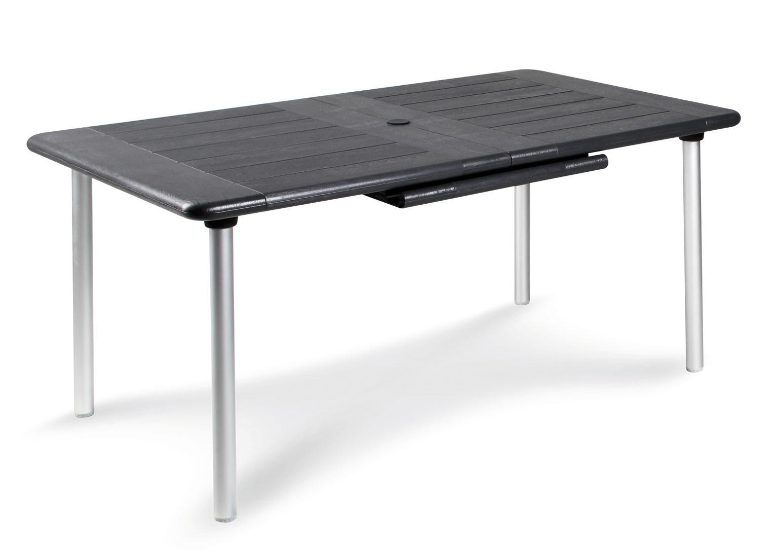 gartentisch tavolo ausziehbar 160 220x100 cm alu silber. Black Bedroom Furniture Sets. Home Design Ideas