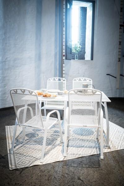 Gartentisch / Tisch Greemotion Toulouse Streckmetall 140x90cm weiß Bild 2