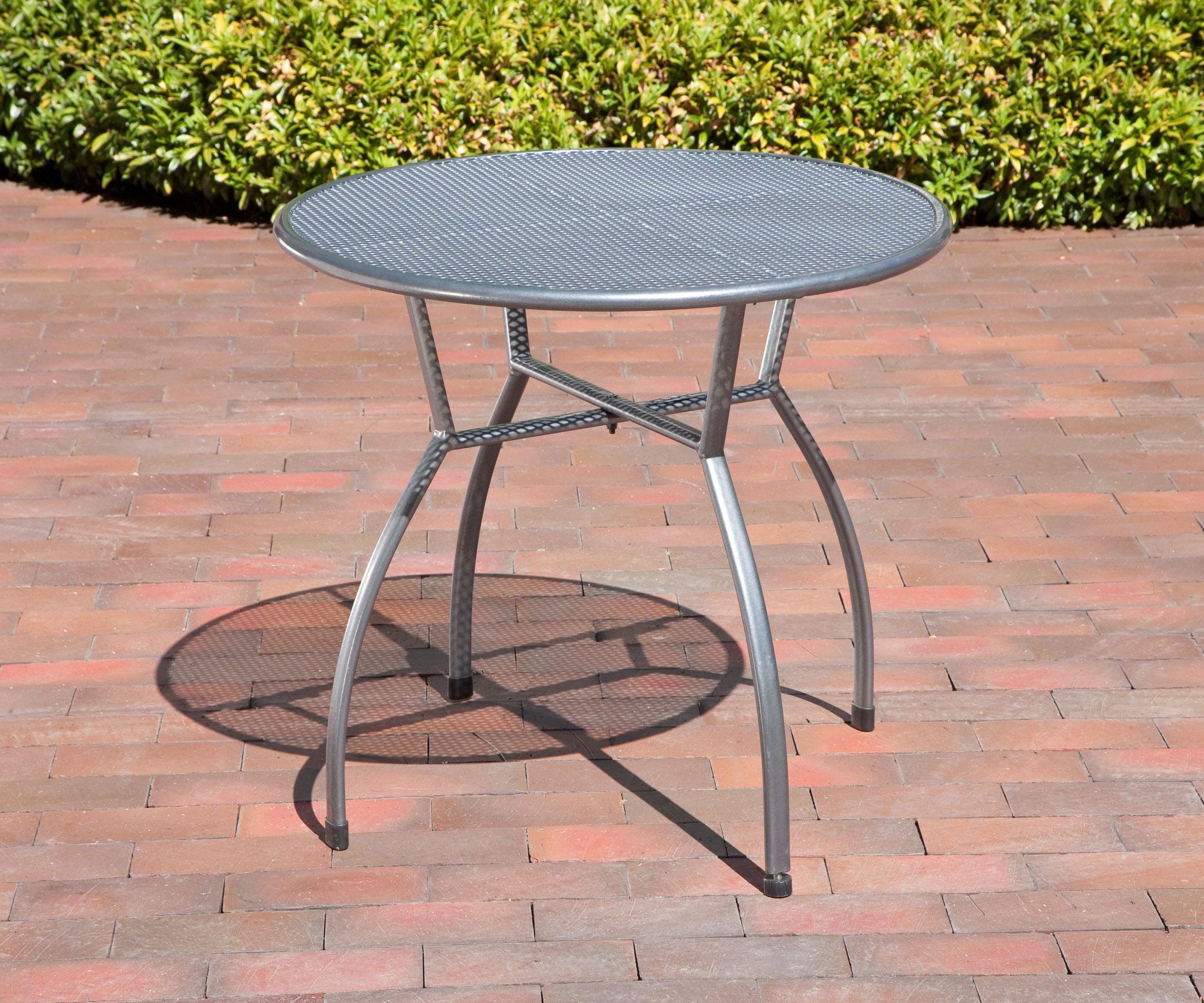 Gartentisch Toulouse greemotion Ø 80cm Streckmetall eisengrau Bild 2