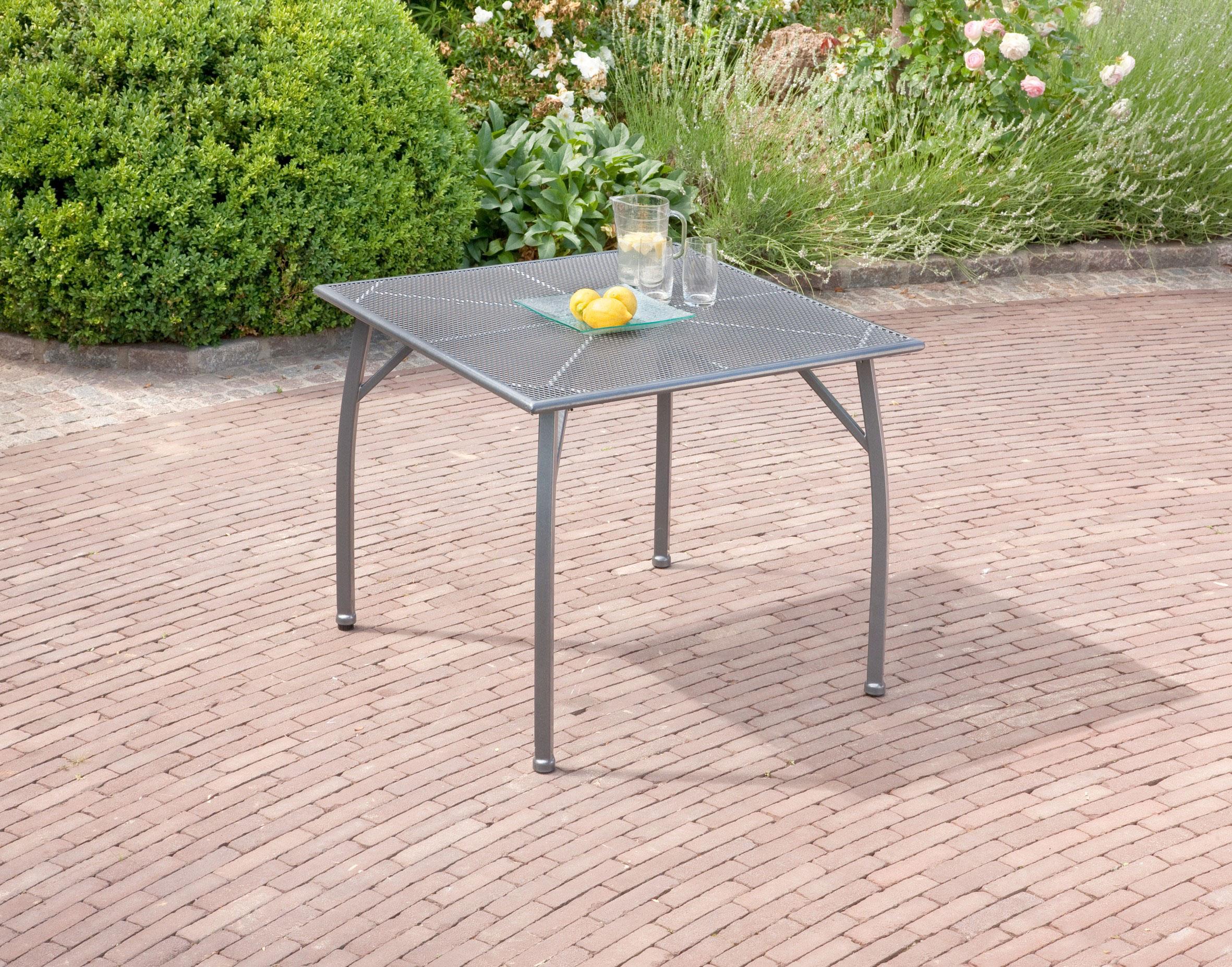 Gartentisch Toulouse greemotion 90x90cm Streckmetall eisengrau Bild 2