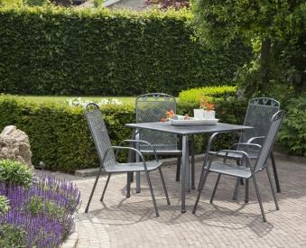 Gartentisch Toulouse greemotion 90x90cm Streckmetall eisengrau Bild 3