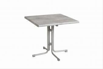 Gartentisch acamp Piazza 80x80cm Stahl platin / Topalit Mosaik grau Bild 1