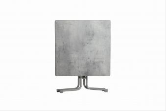 Gartentisch acamp Piazza 80x80cm Stahl platin / Topalit Mosaik grau Bild 2