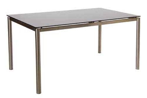 Gartentisch acamp rona Glastisch 150x90cm Edelstahl matt Bild 1
