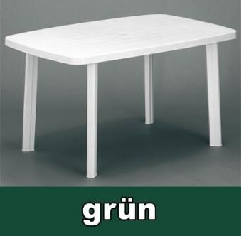 Gartentisch eckig Faro 140 x 90 cm dunkelgrün Kunststoff Bild 1