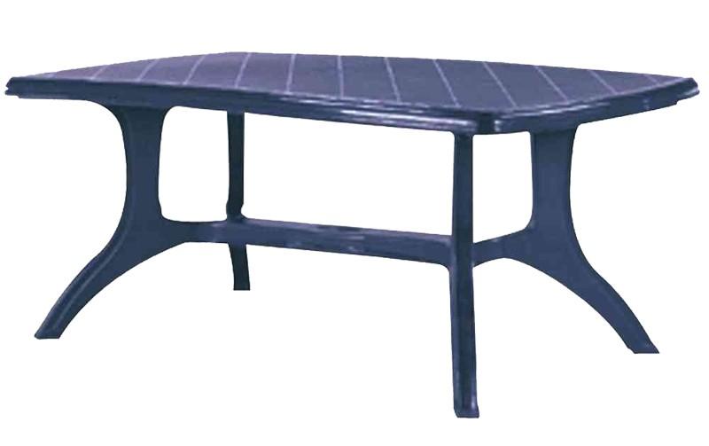 Gartenmobel Set Poco Domane :  eckig Wellington 184 x 103 blau Kunststoff  bei edingershopsde