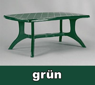 Gartentisch Eckig Wellington 184 X 103 Cm Grun Kunststoff Bei