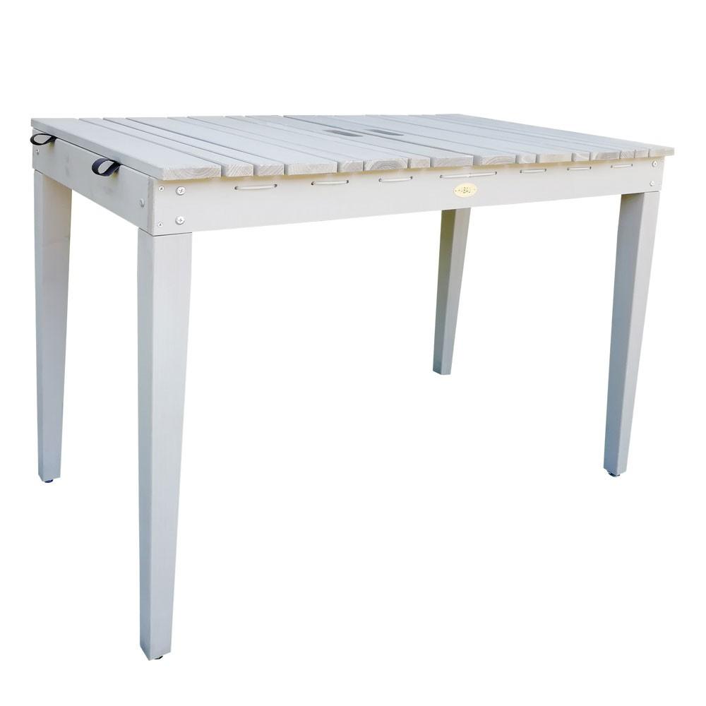Habau Gartentisch / Balkontisch mit Wäscheleine Holz grau 106x60cm Bild 1