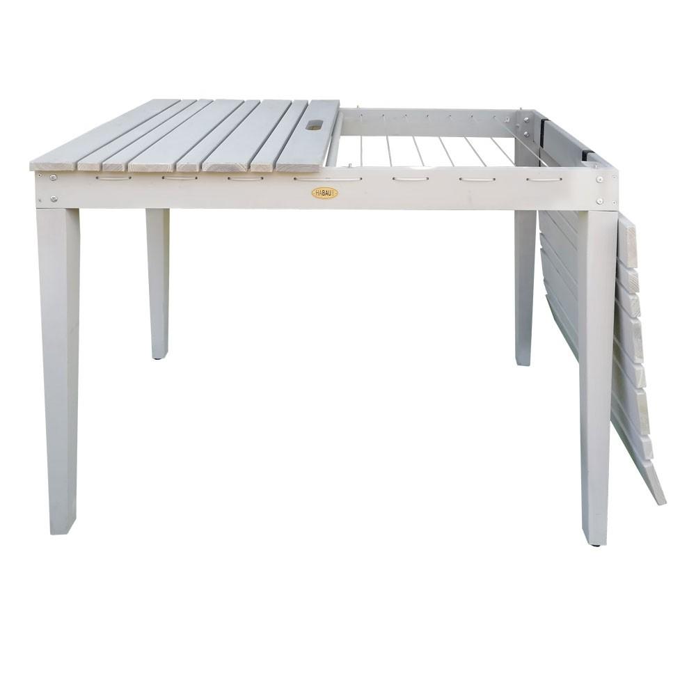 Habau Gartentisch Balkontisch Mit Wascheleine Holz Grau 106x60cm