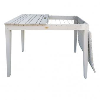 Habau Gartentisch / Balkontisch mit Wäscheleine Holz grau 106x60cm Bild 2
