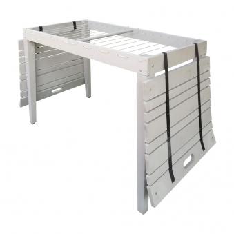 Habau Gartentisch / Balkontisch mit Wäscheleine Holz grau 106x60cm Bild 3