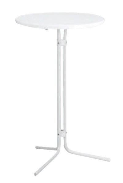 Kurz Stehtisch Ø 70cm weiß Stahl Bild 1