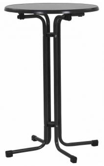 Kurz Stehtisch klappbar Ø 70 cm eisengrau Stahl Bild 1