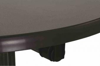Kurz Stehtisch klappbar Ø 70 cm eisengrau Stahl Bild 3